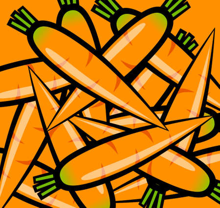 Orange carrots Vector