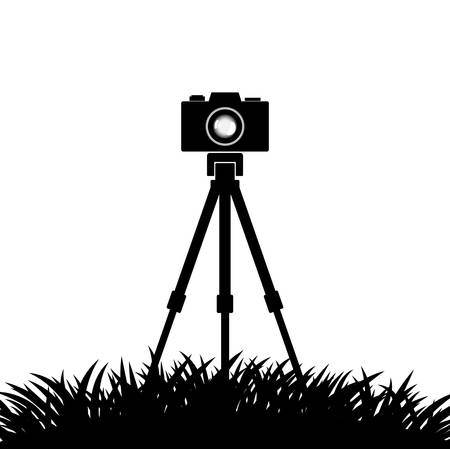Silhouette of camera on white background Stock Vector - 13362705