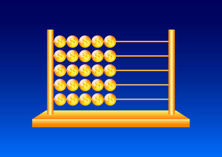 Golden abacus  Vector