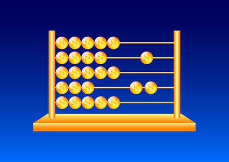 Golden abacus Stock Vector - 13362709