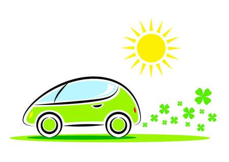 eco car: Eco auto Stock Illustratie