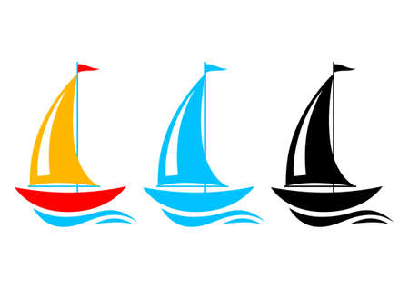 sailing ship: Sailboat icons