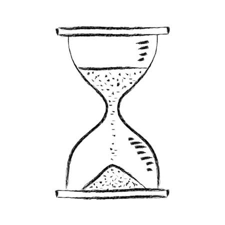 Hourglass on white background Vector