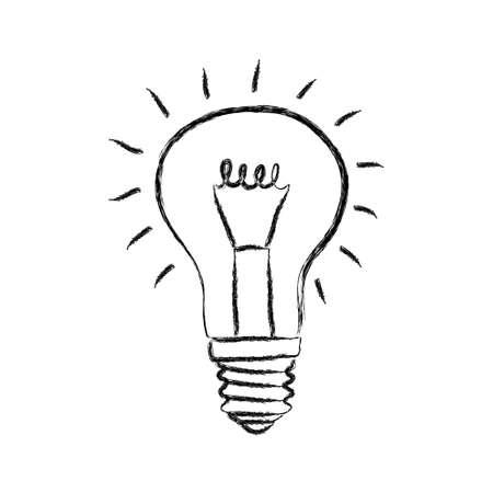 bulb: Sketch of light bulb on white background