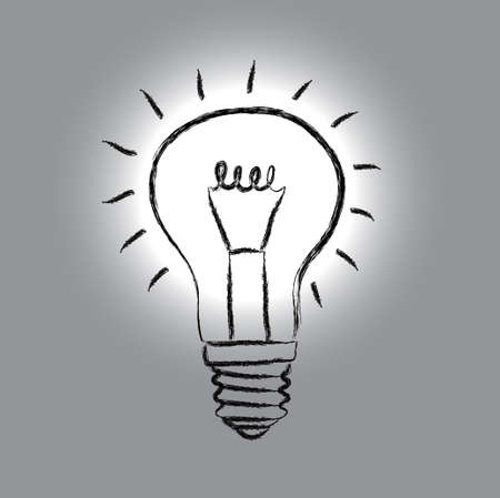 Sketch of light bulb Stock Vector - 13684596