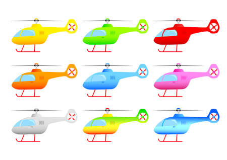 Collection of helicopters     Stock Vector - 13684605