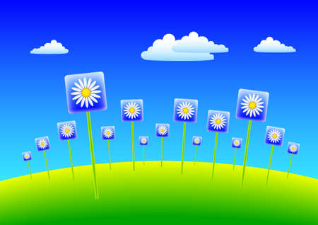 Abstract spring meadow  