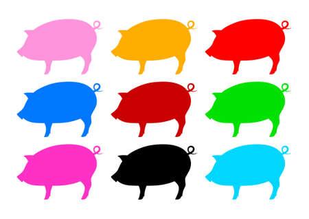 Collection de porcs Vecteurs