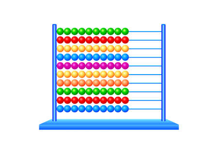 Abacus on a white background Stock Vector - 13684584