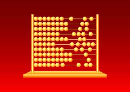 Gold abacus Vector