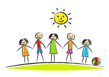 Drawing of children Stock Vector - 13705667