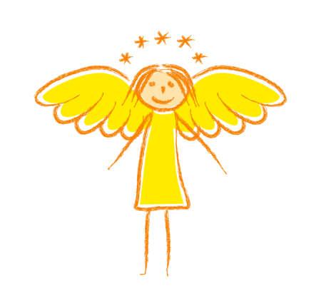 Disegno di angelo Vettoriali