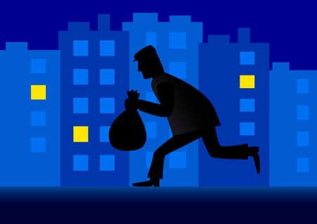 Thief in the city Фото со стока - 13753562