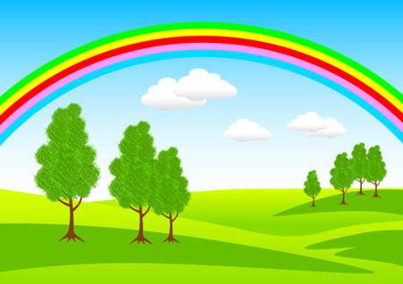 Spring landscape  Иллюстрация