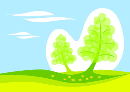 Spring landscape  Stock Vector - 13815320