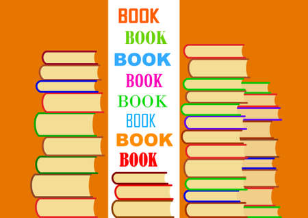 Pile of books Stock Vector - 13815304