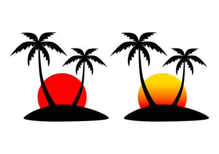 Island icons Stock Vector - 13841451