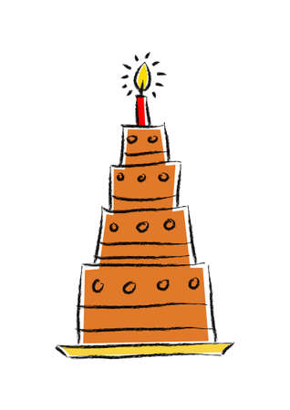 Drawing of chocolate cake       Vector