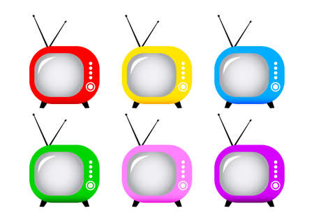 Retro TV set  Stock Vector - 14105686
