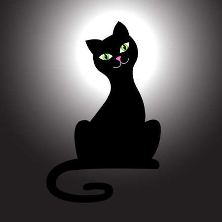 Black cat Stock Vector - 14105747