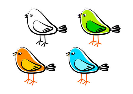 Collection of birds       Stock Vector - 14237739