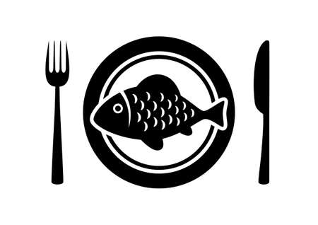 Fish on porcelain plate Stock Vector - 14283962