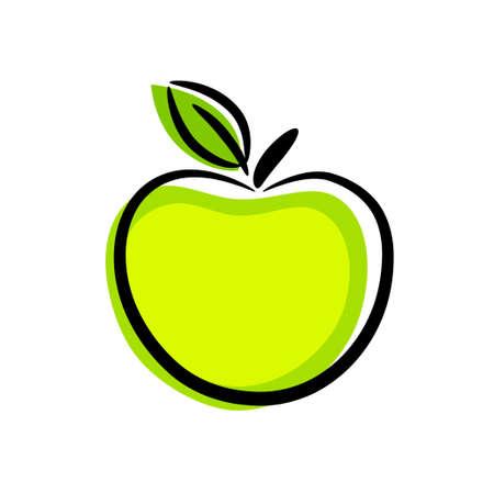 pomme: Pomme verte Illustration