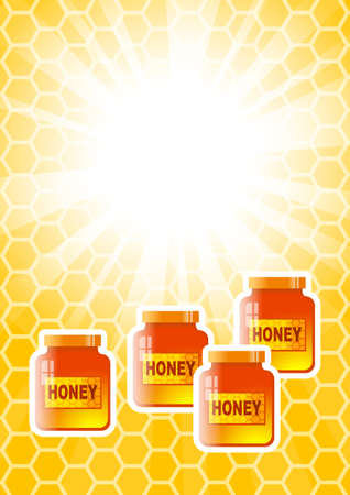curative: Background with honey jars