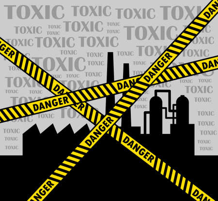 Toxic factory Stock Vector - 14438377