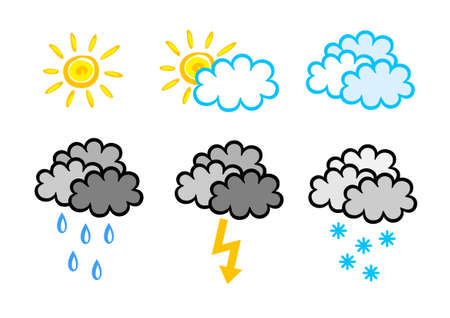Weather icons Stock Vector - 14490897