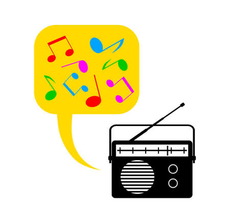 Radio on white background