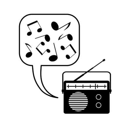 Radio on white background Stock Vector - 14533343