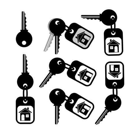 Key icon on white background Stock Vector - 14533360