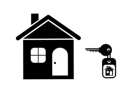 keyring: House icon on white background