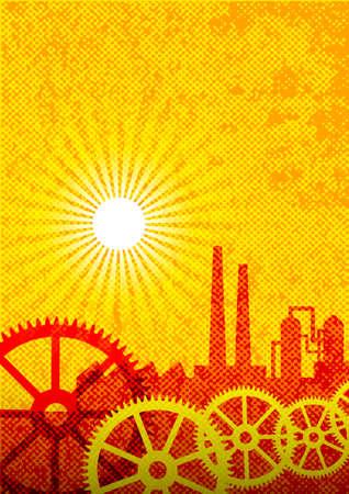 Industrial background      Stock Vector - 14804473