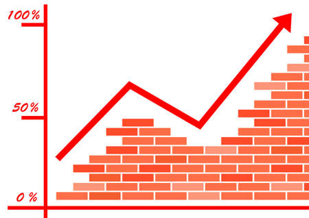 Brick graph  Stock Vector - 14804474