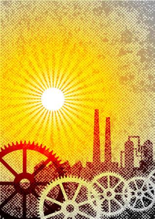 Industrial background       Stock Vector - 14804502