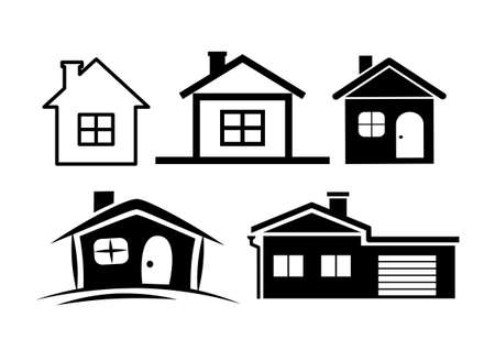 House icons Stock Vector - 14984243