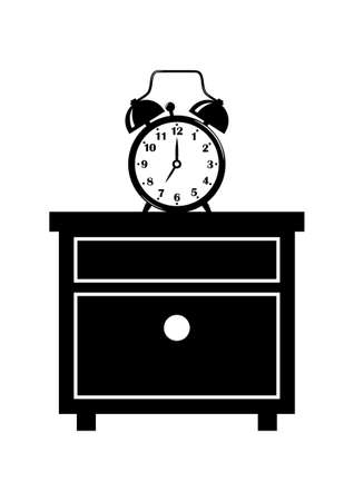 Bedside table clipart  Alarm Clock On Bedside Table Royalty Free Cliparts, Vectors, And ...