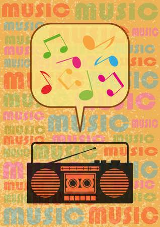 portable radio: Radio cassette player