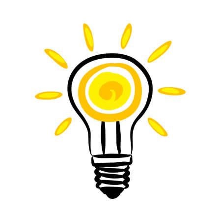 Icono de bombilla Ilustración de vector