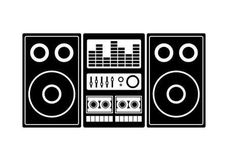 speaker box: Radio cassette player