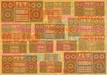 Audio retro background       Vector