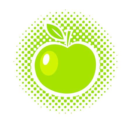 Green apple Stock Vector - 15412471