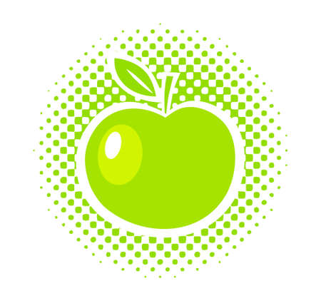 Green apple Stock Vector - 15412471