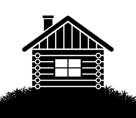 Log house icon Stock Vector - 15437879