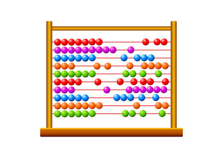 Abacus on white background Stock Vector - 15437880