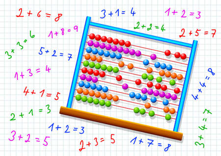 squared paper: Abacus on squared paper