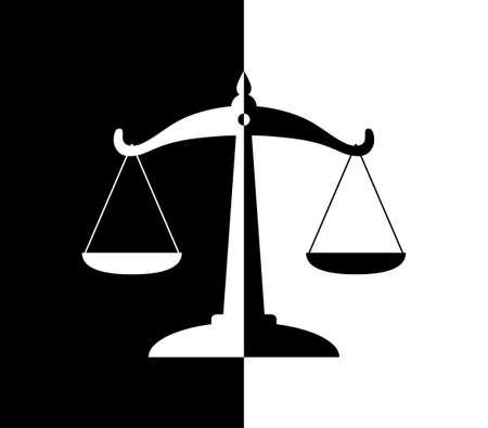 balanza de justicia: Escala icono
