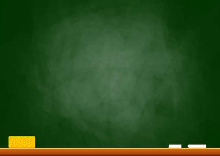 sponges: Empty blackboard  Illustration